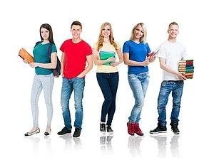 Skupina študentov.