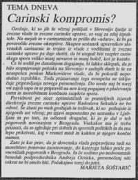 Časopisni članek o takratnem napetem dogajanju na mejnih prehodih med slovensko in zvezno oblastjo.