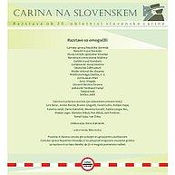 Na plakatu je navedeno, kdo je omogočil in kdo ustvaril razstavo ob 20. obletnici slovenske carine.